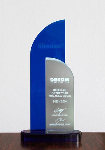 DEKOM awarded Lifesize Reseller of the year 2013 and 2014