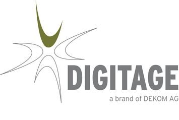 Digitage a brand of DEKOM AG logo