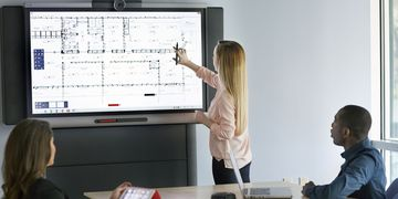 SMART Board 8055i interactive panel used as presentation device