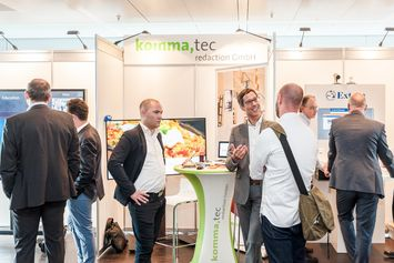 komma,tec booth at DEKOM Conferencing and Seaport Day 2018
