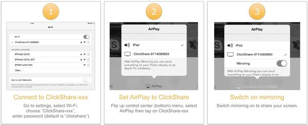 Barco ClickShare AirPlay Installationsschritte