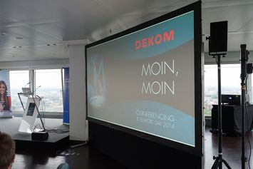 Video wall at DEKOM Conferencing & Seaport Day 2014