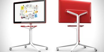 Google Jamboard front and back view