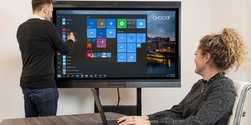 Avocor Windows Collaboration Display in Huddle Rooms with Windows Surface