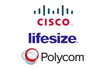 Cisco, Lifesize, Polycom logos