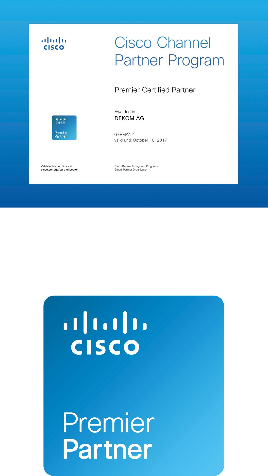 DEKOM receives Premier Partner Certification From Cisco In Germany ...
