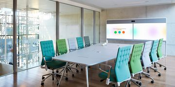 Cisco Spark Room 70 dual displays in use