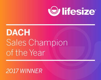 Lifesize DACH Sales Champion of the Year 2017 Winner