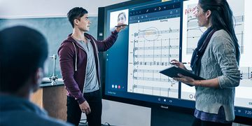 Microsoft Surface Hub in Use