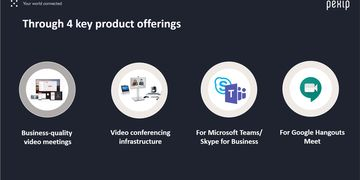 Pexip four key product offerings