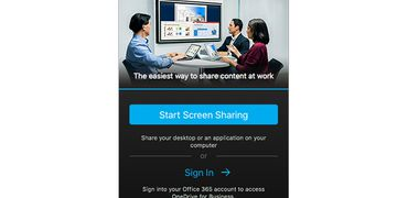 Polycom Pano App start screen