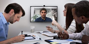 Polycom RealPresence Group Convene in use