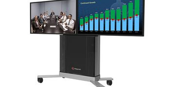 Polycom RealPresence Group Series Media Center dual screen
