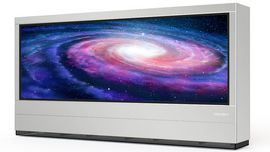 Prysm LPD 6K Series display side custom skin silver