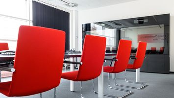 Conferencing room furniture at Takeda