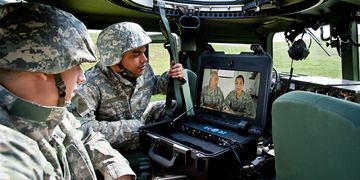 Cisco TelePresence VX Tactical in helicopter
