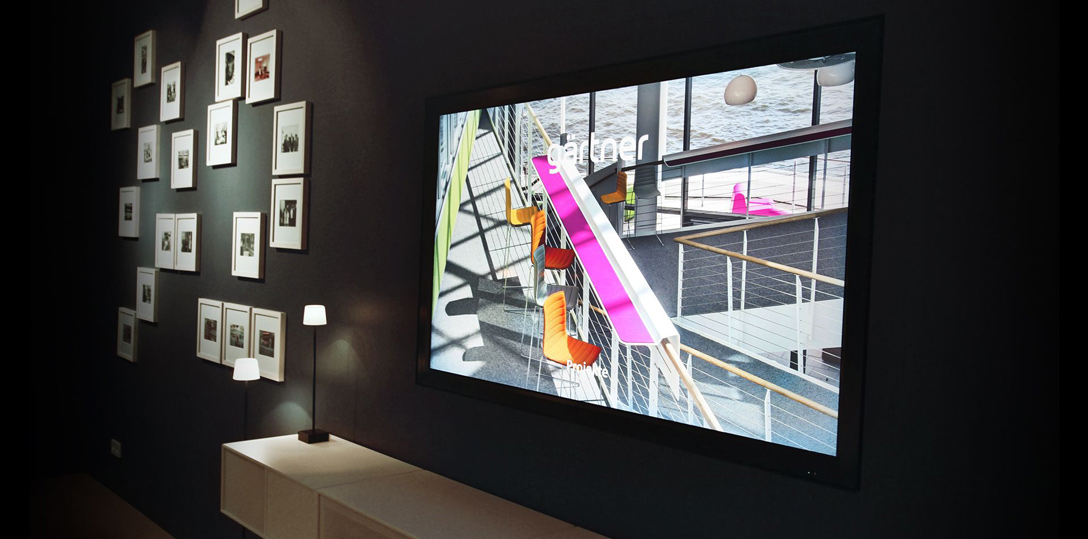Digital Signage Showroom by Komma,tec