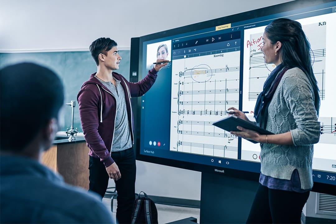 Collaborative Classroom Hub ~ Microsoft surface hub media technology dekom