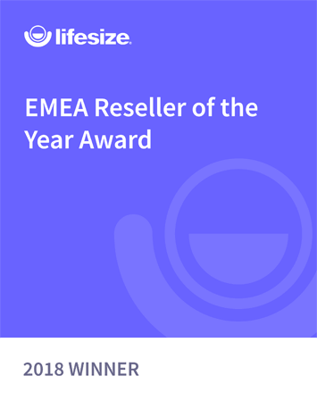 Lifesize EMEA Reseller of the Year Award 2018 Winner badge