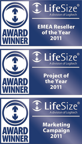 Lifesize Award winner 2011 badges