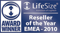 Lifesize Reseller of the year EMA 2010 award winner badge