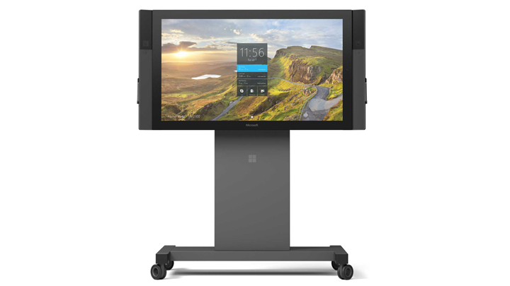 Microsoft Surface Hub on a stand