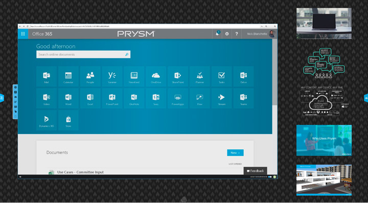 Prysm with office 365