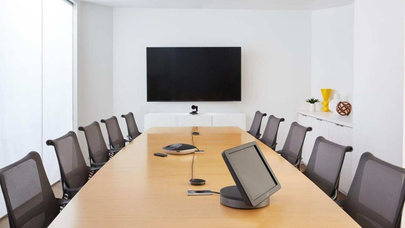 Conference room with Microsoft Teams Room System