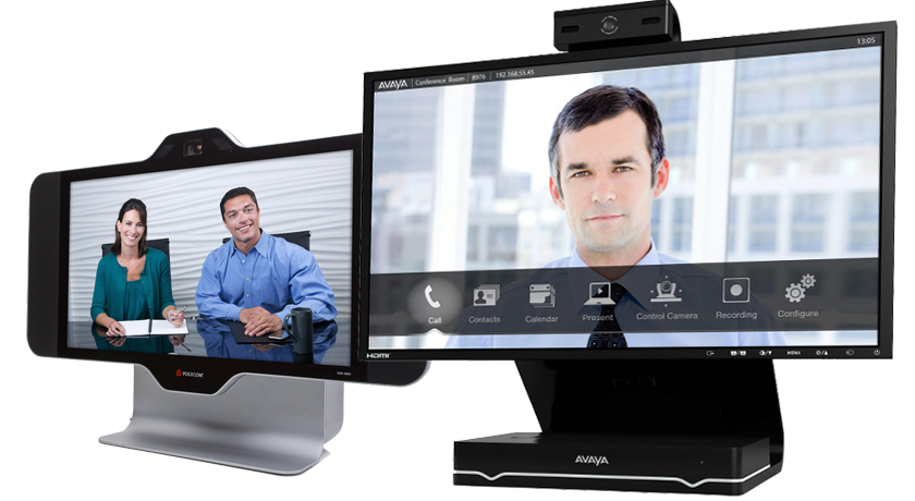 Desktop System Avaya Scopia XT5000 and Polycom HDX4500